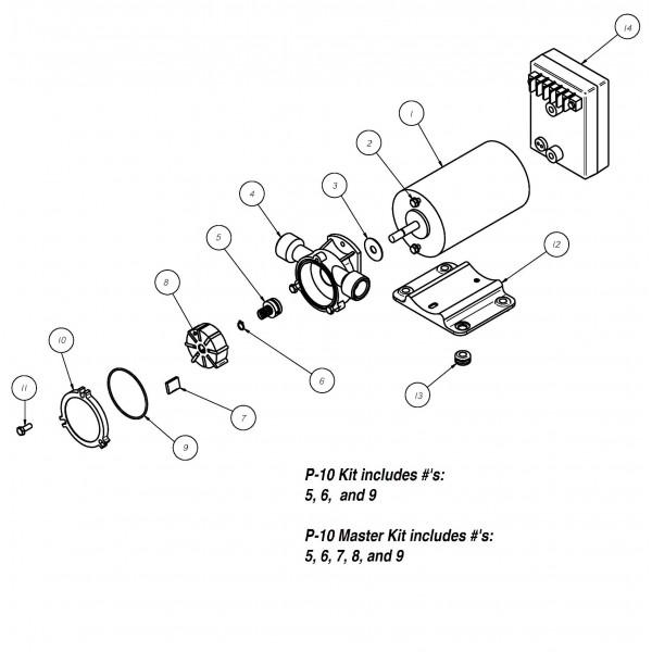 Spo 60 Rr 12v Positive Displacement Reversing Vane Pump Groco