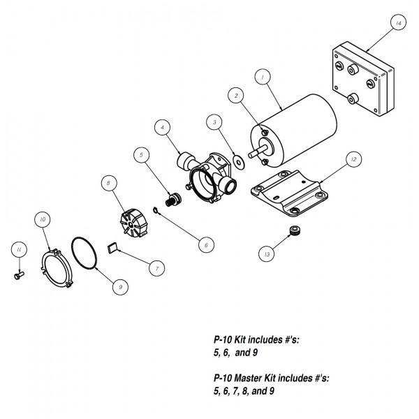 Spo 60 Rt 12v Positive Displacement Reversing Vane Pump Groco