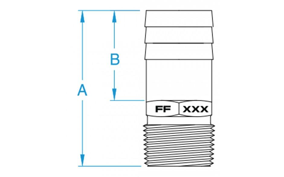 ff 4 u0026quot  npt bronze full flow hose barb fitting