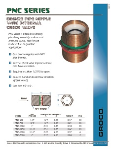 PNC Series Check Valve Flyer